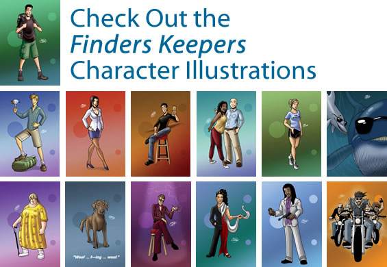 Finders Keepers Character Illustrations